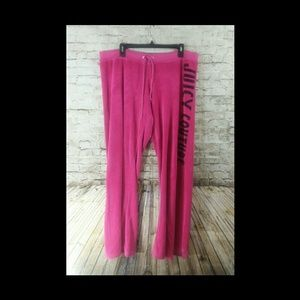 Juicy couture XL pink velour pants only